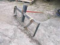 Tractor front loader bale spike with euro brackets fitted