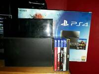 Ps4 1tb with 6 games