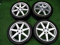 GENUINE MERCEDES C CLASS 18 INCH AMG SPORT STAGGERED ALLOYS WITH 4 GOOD TYRES