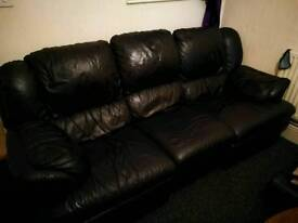 Black leather Recliner free delivery