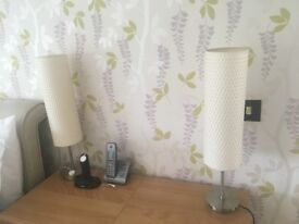 Set of 2 bedside lamps