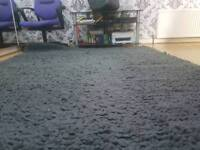 Huge living room rug in vvv thick Shaggy grey