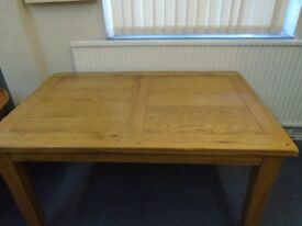 small solid oak table