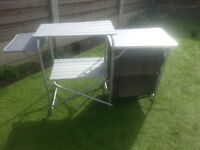 for sale aluminium camp kitchen in the bag £25