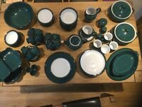 Large selection of Denby Greenwich china, all in good condition.