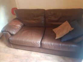 Leather 2 seater sofa - 5 years old in good condition