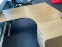 Office Desk with Drawers and Chair