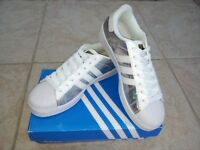 New, unworn and boxed ladies'/girls' Adidas Superstar trainers, UK size 6.