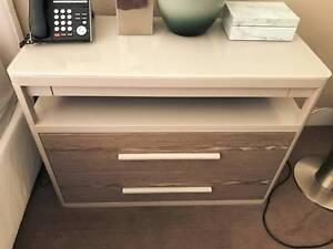 DESIGNER BEDSIDE TABLES x 2 Darling Point Eastern Suburbs Preview