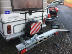 Hymer Mercedes scooter / motorcycle rack