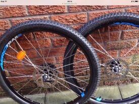 27.5 inch disc mountain bike wheels as new