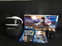 PS4 virtual reality headset bundle practically brand new