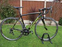 Specialized Tarmac SL4 Sport 2017 Size 54 - Upgraded Wheels & Brakes As New Black Road Racing Bike
