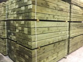 X50 wooden railway sleepers Pressure Treated green