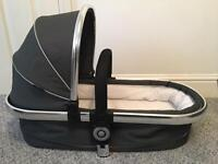 Icandy pearl 3 carry cot, adapters and rain coat