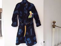 """Boy's M&S """" SIMPSONS """" dressing gown / age 4-5 years"""