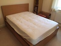 Ikea Malm Double Bed Frame & Mattress