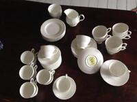 Full white porcelain/ chine tea set SUGARLANDS LONDON