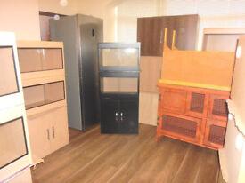 brand new 2x2ft vivariums and cabinetin black