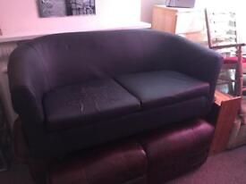 Free Faux Leather Tub Settee
