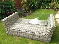 Rattan Conservatory/Garden Glass top Coffee Table
