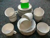Cups and saucers side plates misc £5