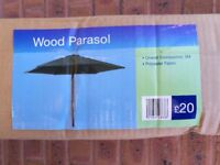 Dark Green Garden Parasol 3m - Brand New in Box