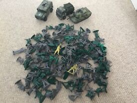 Toy Soilders and Army Vehicles Bundle