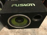 Powerfull Car subwoofer Fusion