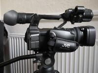 ivc pro camcorder as new only 27 hours use, plus accessories mint condition
