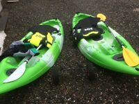 Two Kayaks with extras