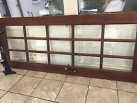 Wood and glass door
