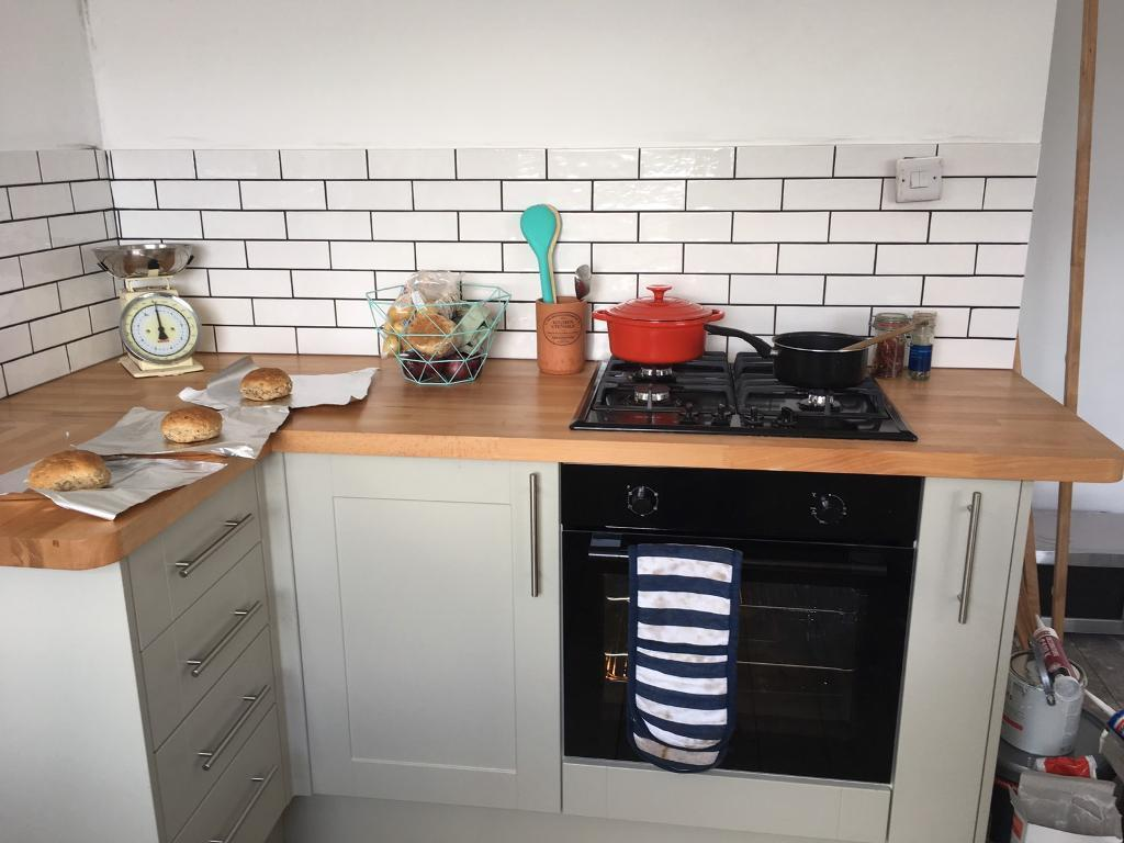 25 metro tiles and charcoal grey grouting