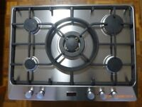 Stoves 700GWc 70cm 5 Burner Gas Hob in Stainless Steel with Cast Iron Pan Supports