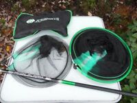 Keenets Fishing Landing Net and Keepnet with Pole and Net Bag, New Unused