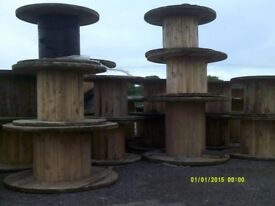 HUGE WOODEN CABLE DRUM REEL / BEER GARDEN TABLE 2.2 METRE (Smaller available)