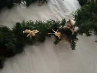 4 x 9ft Christmas garlands with decor