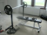 Olympic Weights, Bar And Bench