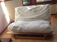 BEAUTIFUL TRADITIONAL PINE WOOD DOUBLE FUTON//30£// PICK UP ONLY TOMORROW 28th JULY!!