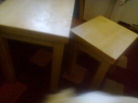 TABLES SOLID OAK SMALL
