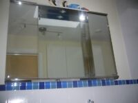 Bathroom Cabinet with electric light from Bathstore