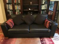 Brown Leather Sofa Set (2 and 3 seater sofas)