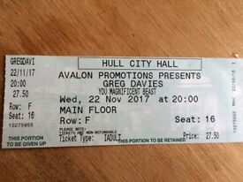 Greg Davies Ticket Hull