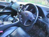 Lexus IS 220d SE-i, Silver, FSH, Camera, Satnav, Bluetooth, MOT, Low TAX band, HPI Clear