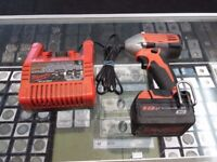MILWAUKEE 2650-20 + 18V BATTERY + Charger 110 volt used