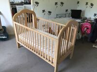 Beautiful dropside COSATTO COT / BED in excellent condition + lovely clean mattress!