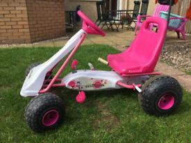 Girls Go-kart - White & Pink