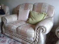 3 Piece Suite & matching Storage pouffee Seat