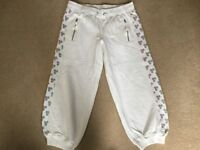 Lovely White TOPSHOP 3/4 Length Joggers Size 12