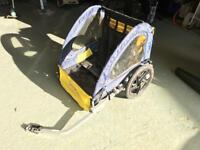 Halfords double buggy child bike trailer - SOLD